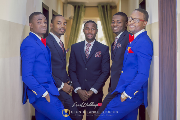 Nigerian White Wedding Groom and Groomsmen Lamide and Biodun Seun Kilanko Studios LoveweddingsNG