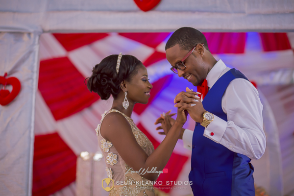 Nigerian White Wedding Reception Bride and Groom Lamide and Biodun Seun Kilanko Studios LoveweddingsNG