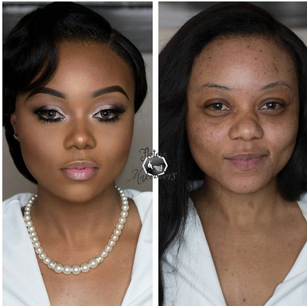 Nigerian Bridal Before And After Makeover Flotem Makeovers