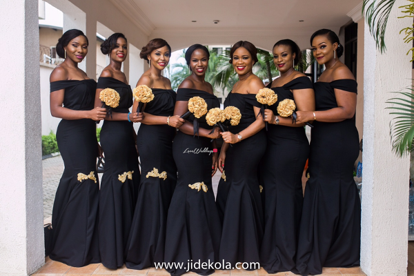 Nigerian Bridesmaids love black | Nigerian Wedding Trend