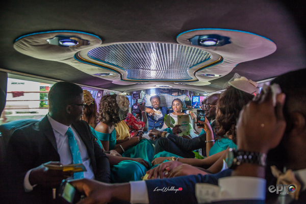 nigerian-couple-and-bridal-train-in-a-limousine-nkem-and-lanre-events-pro-loveweddingsng