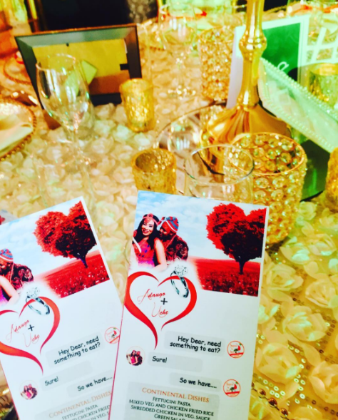 Adaugo and Uche's Nigerian Traditional Social Media Themed Wedding Menu Cards IPC Events LoveWeddingsNG 1