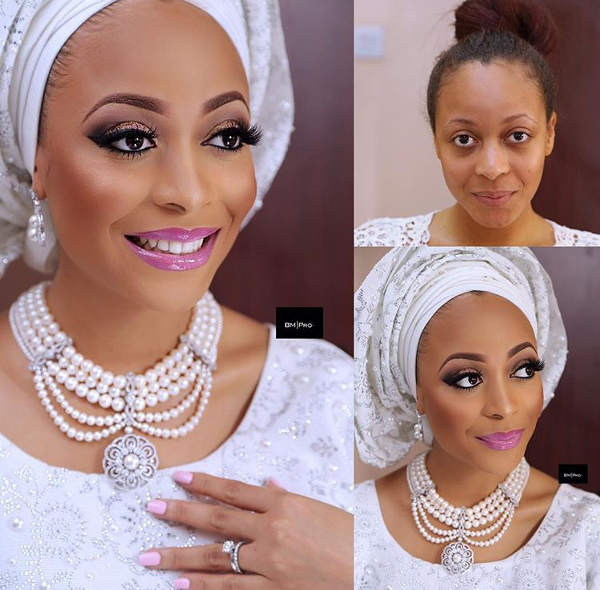 Nigerian Bridal Makeup Before and After Banke Meshida Lawal LoveweddingsNG
