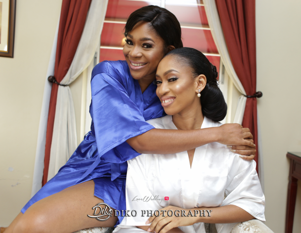 Nigerian Bride and Bridesmaid Amaka and Oba 3003 Events Diko Photography LoveWeddingsNG 1