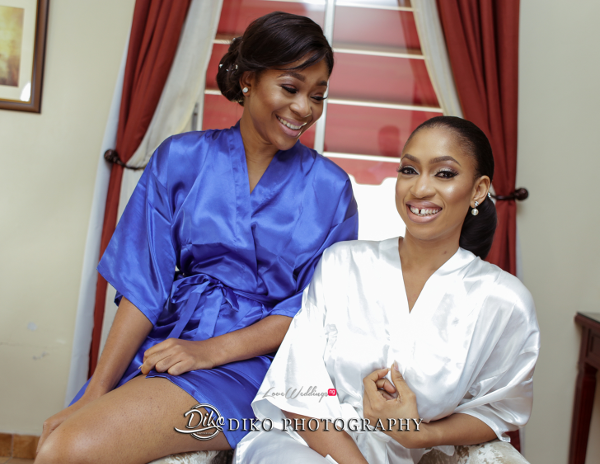 Nigerian Bride and Bridesmaid Amaka and Oba 3003 Events Diko Photography LoveWeddingsNG