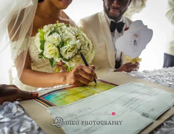 Nigerian Bride and Groom Sign Wedding Register Amaka and Oba 3003 Events LoveWeddingsNG 2