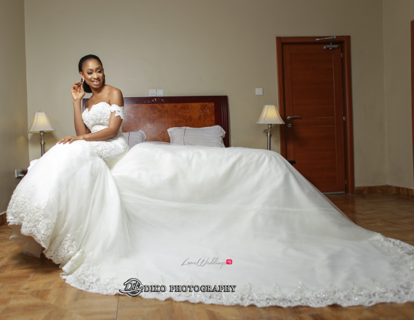 Nigerian Bride in gown Amaka and Oba 3003 Events LoveWeddingsNG