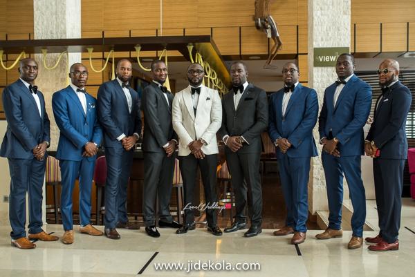 Nigerian Groom and Groomsmen - Prince Kasali and Olori Abisoye Jide Kola LoveWeddingsNG