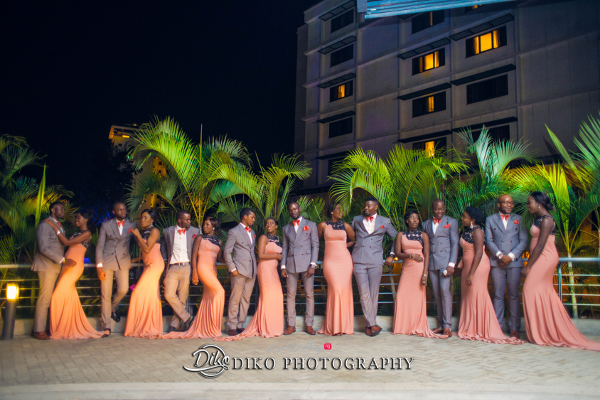 Nigerian Bridal Party Toyosi Ilupeju and Wole Makinwa WED Dream Wedding Details Diko Photography LoveWeddingsNG 2