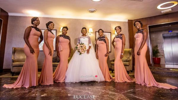 Nigerian Bride and Bridesmaids Toyosi and Wole WED Dream Wedding From Paris With Love 17 LoveWeddingsNG