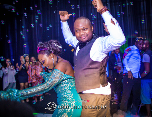 Nigerian Bride and Groom Dancing Toyosi Ilupeju and Wole Makinwa WED Dream Wedding Details Diko Photography LoveWeddingsNG 2