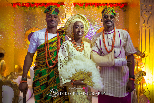 Nigerian Traditional Bride and Groom and friend Tosin and Alhassan Diko Photography LoveWeddingsNG