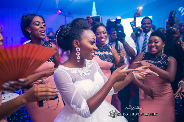 Nigerian Wedding Bride Dancing Toyosi Ilupeju and Wole Makinwa WED Dream Wedding Details Diko Photography LoveWeddingsNG