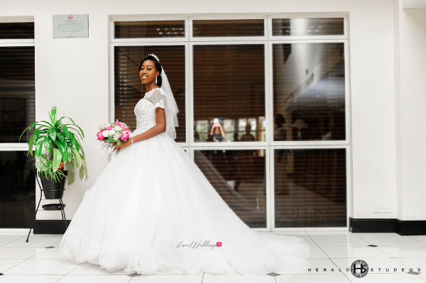 Nigerian bridal gown Tosin and Hassan Herald Studeos LoveWeddingsNG