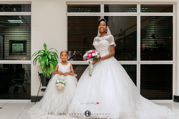 Nigerian bride and little bride Tosin and Hassan Herald Studeos LoveWeddingsNG