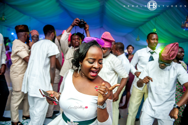 Nigerian bridesmaid turning up Tosin and Hassan Herald Studeos LoveWeddingsNG
