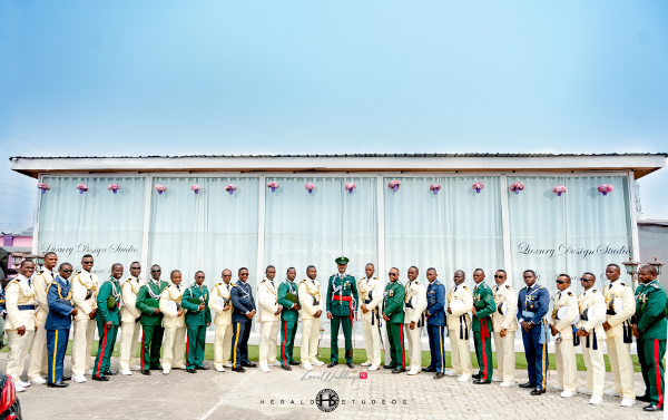 Nigerian military wedding Men in uniform Tosin and Hassan Herald Studeos LoveWeddingsNG