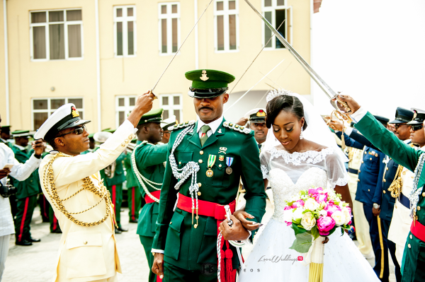 Nigerian military wedding Tosin and Hassan Herald Studeos LoveWeddingsNG 2