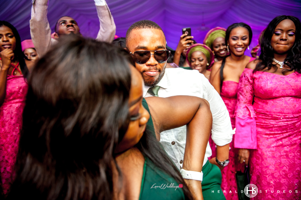 Nigerian wedding guests turning up Tosin and Hassan Herald Studeos LoveWeddingsNG