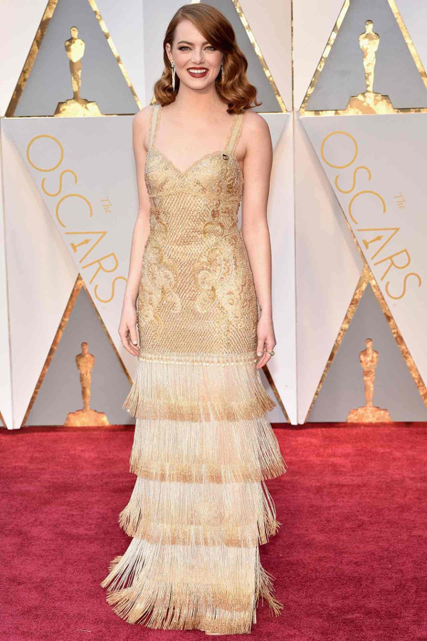 Oscars 2017 - Emma Stone in Givenchy Bridal Inspiration LoveWeddingsNG