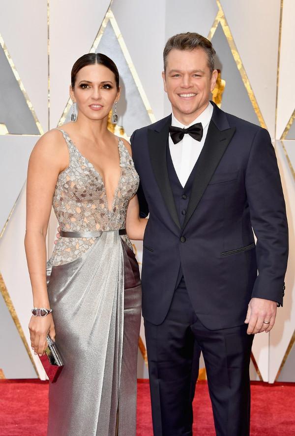 Oscars 2017 - Matt Damon and Luciana Barroso Couple Inspiration LoveWeddingsNG