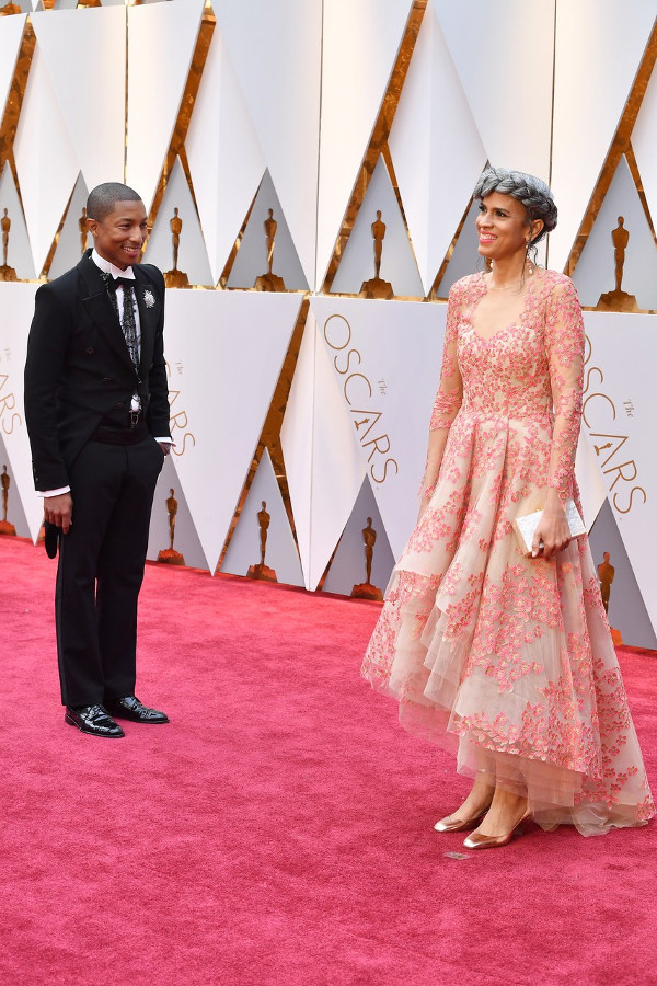 Oscars 2017 - Pharrell Williams and Helen Lasichanh Couple Inspiration LoveWeddingsNG
