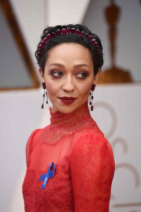 Oscars 2017 - Ruth Negga Bridal Hair Inspiration LoveWeddingsNG