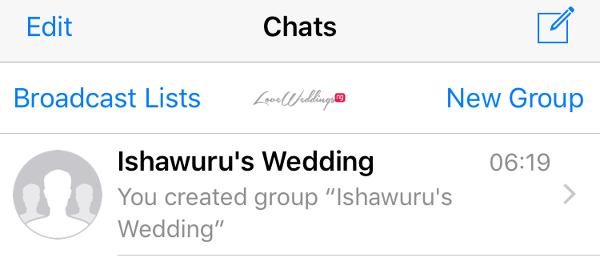 WhatsApp Wedding Group Etiquette LoveWeddingsNG