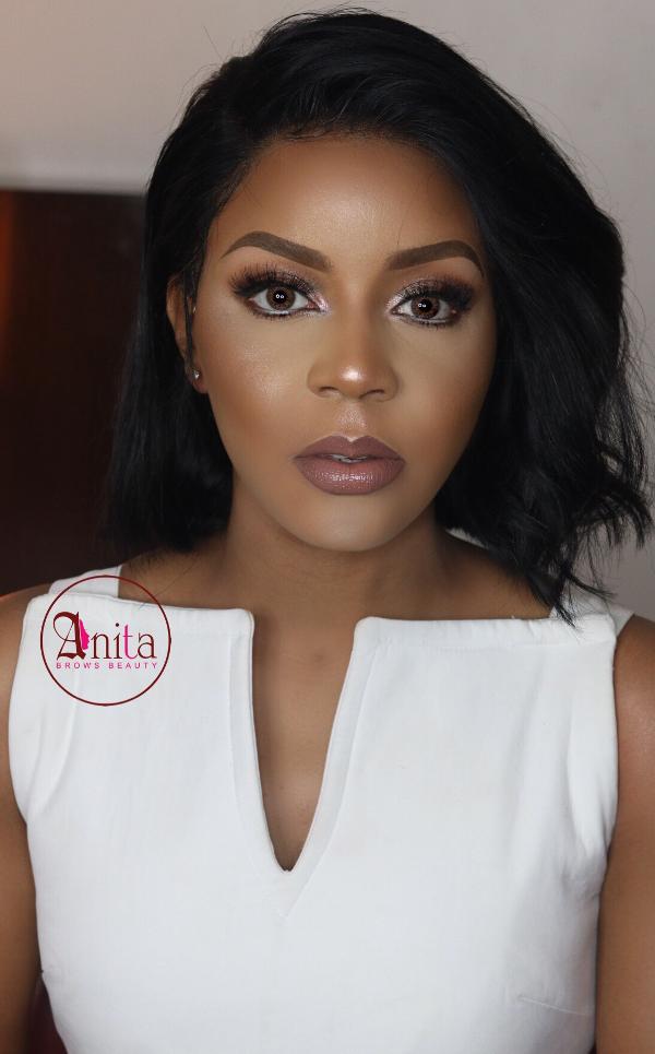AMVCA 2017 - Lola OJ Bridal Beauty Look Anitas Brows Africa Magic Viewers Choice Awards 2017 LoveWeddingsNG