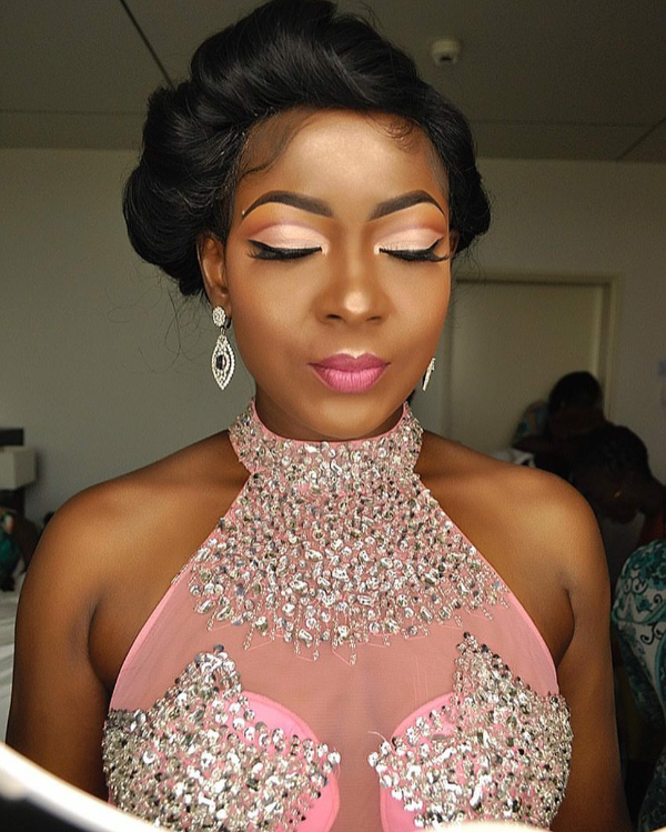 AMVCA 2017 - Susan Peters by Prettifiers Bridal Beauty Look Africa Magic Viewers Choice Awards 2017 LoveWeddingsNG