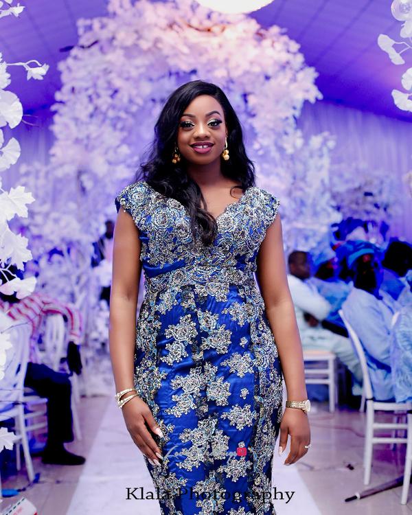 Nigerian Bride Reception Dress The Fadinas Bridal Party Klala Photography LoveWeddingsNG