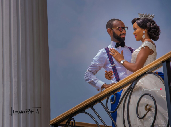 Nigerian Bride and Groom Adetola Adeleke and Olapemi Awolola LoveWeddingsNG