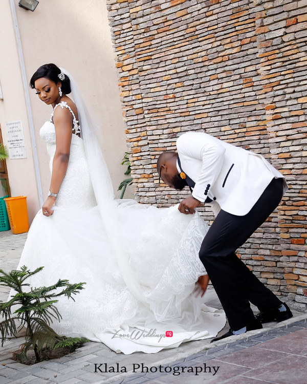 Nigerian Bride and Groom The Fadinas Bridal Party Klala Photography LoveWeddingsNG