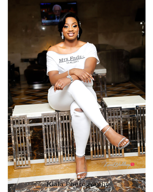 Nigerian Bride in Tee No robe The Fadinas Bridal Party Klala Photography LoveWeddingsNG