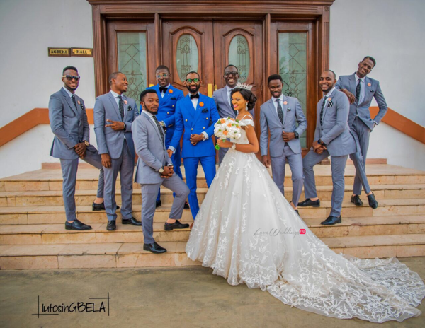 Nigerian Couple and Groomsmen Adetola Adeleke and Olapemi Awolola LoveWeddingsNG
