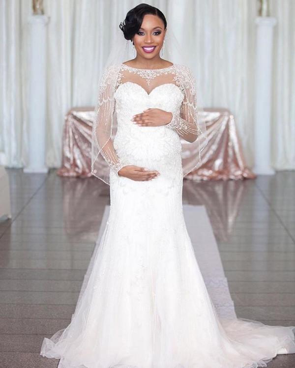 Nigerian Pregnant Bride LoveWeddingsNG.jp
