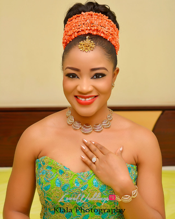 Nigerian Traditional Bridal Makeup Ifeyinwa and Chidi Klala Photography LoveWeddingsNG