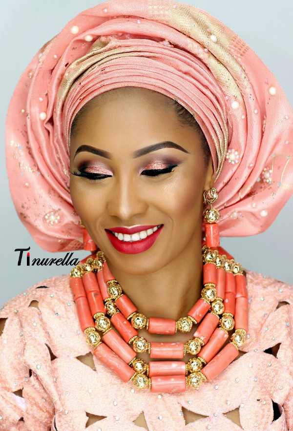 Nigerian Traditional Bridal Makeup Tinurella LoveWeddingsNG 6