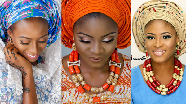 Nigerian Traditional Bridal Makeup Tinurella LoveWeddingsNG feat