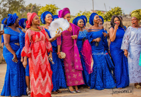 Nigerian Traditional Bride and friends Adetola Adeleke and Olapemi Awolola LoveWeddingsNG