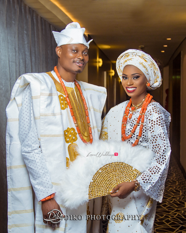 Nigerian Tradtional Bride and Groom Omolade and Adekunle Diko Photography LoveWeddingsNG