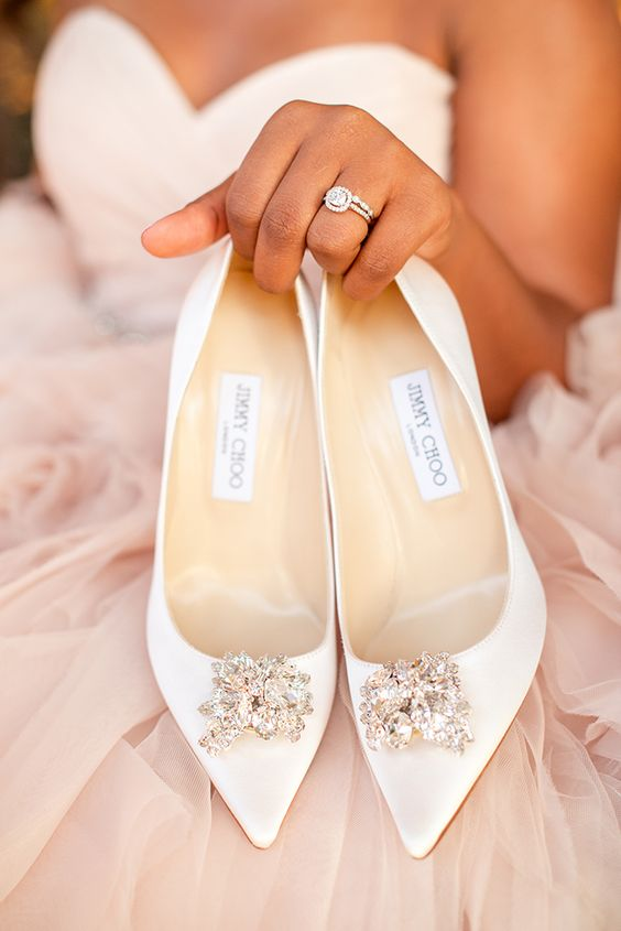 Nigerian Wedding Bridal Shoes JimmyChoo LoveWeddingsNG
