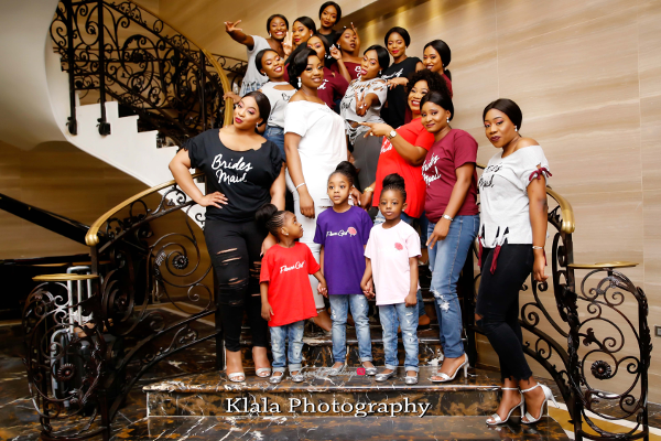 Nigerian Wedding The Fadinas Bridal Party Klala Photography LoveWeddingsNG