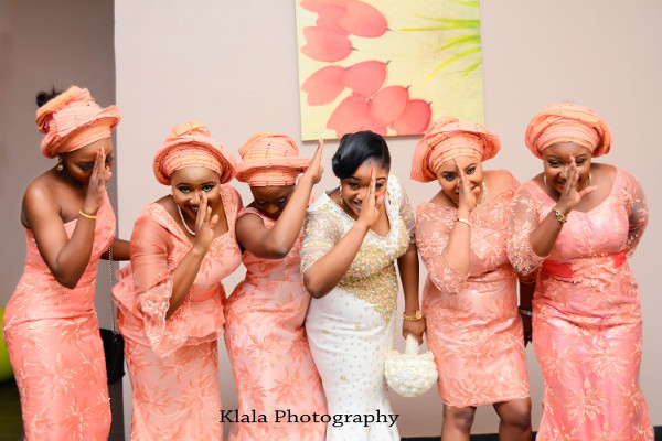 Nigerian Bride and Aso Ebi Ladies Wehdone Sir Klala Photography LoveWeddingsNG