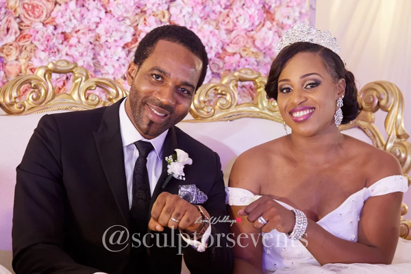 Nigerian Bride and Groom Seno and Patrick Sculptors Events LoveWeddingsNG 1