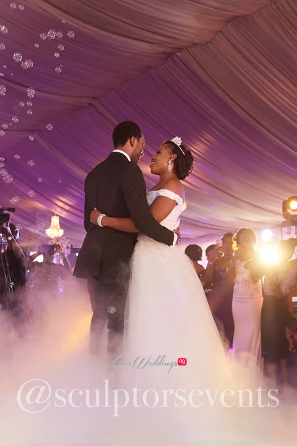 Nigerian Bride and Groom Seno and Patrick Sculptors Events LoveWeddingsNG 2