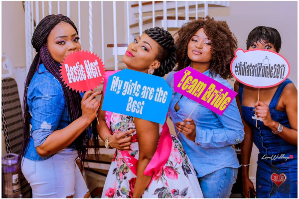 Nigerian Denim Themed Bridal Shower Adiat Bride to be and Friends LoveWeddingsNG 1