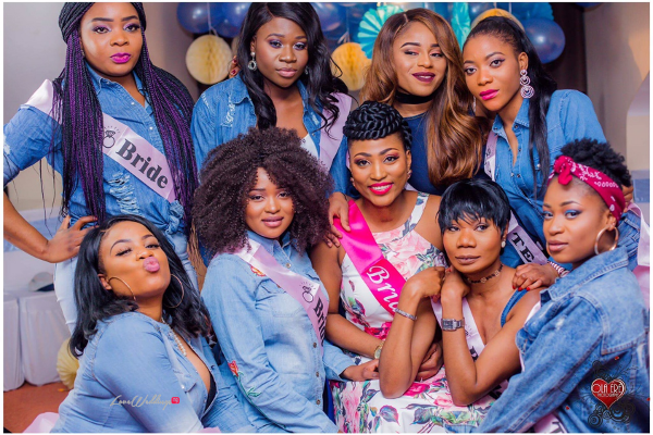 Nigerian Denim Themed Bridal Shower Adiat Bride to be and Friends LoveWeddingsNG