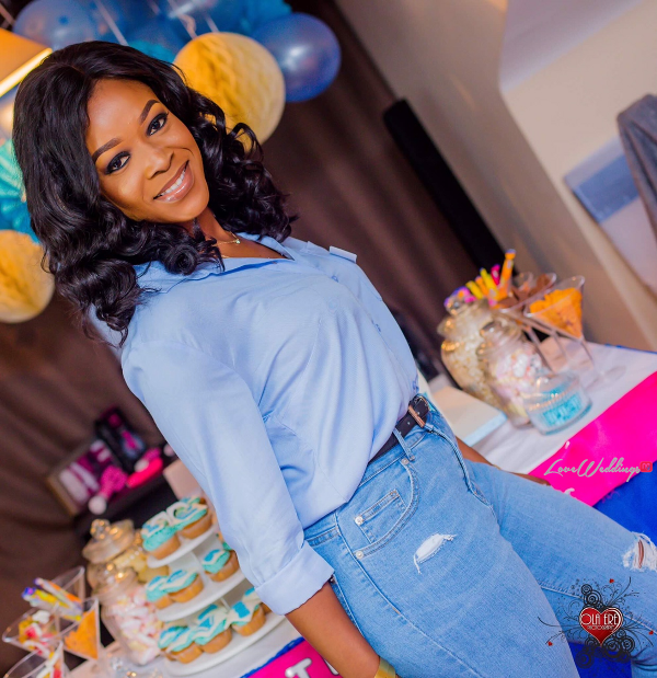 Nigerian Denim Themed Bridal Shower Adiat Friend LoveWeddingsNG 1