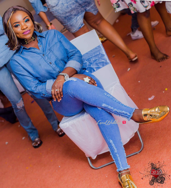 Nigerian Denim Themed Bridal Shower Adiat Friend LoveWeddingsNG 3